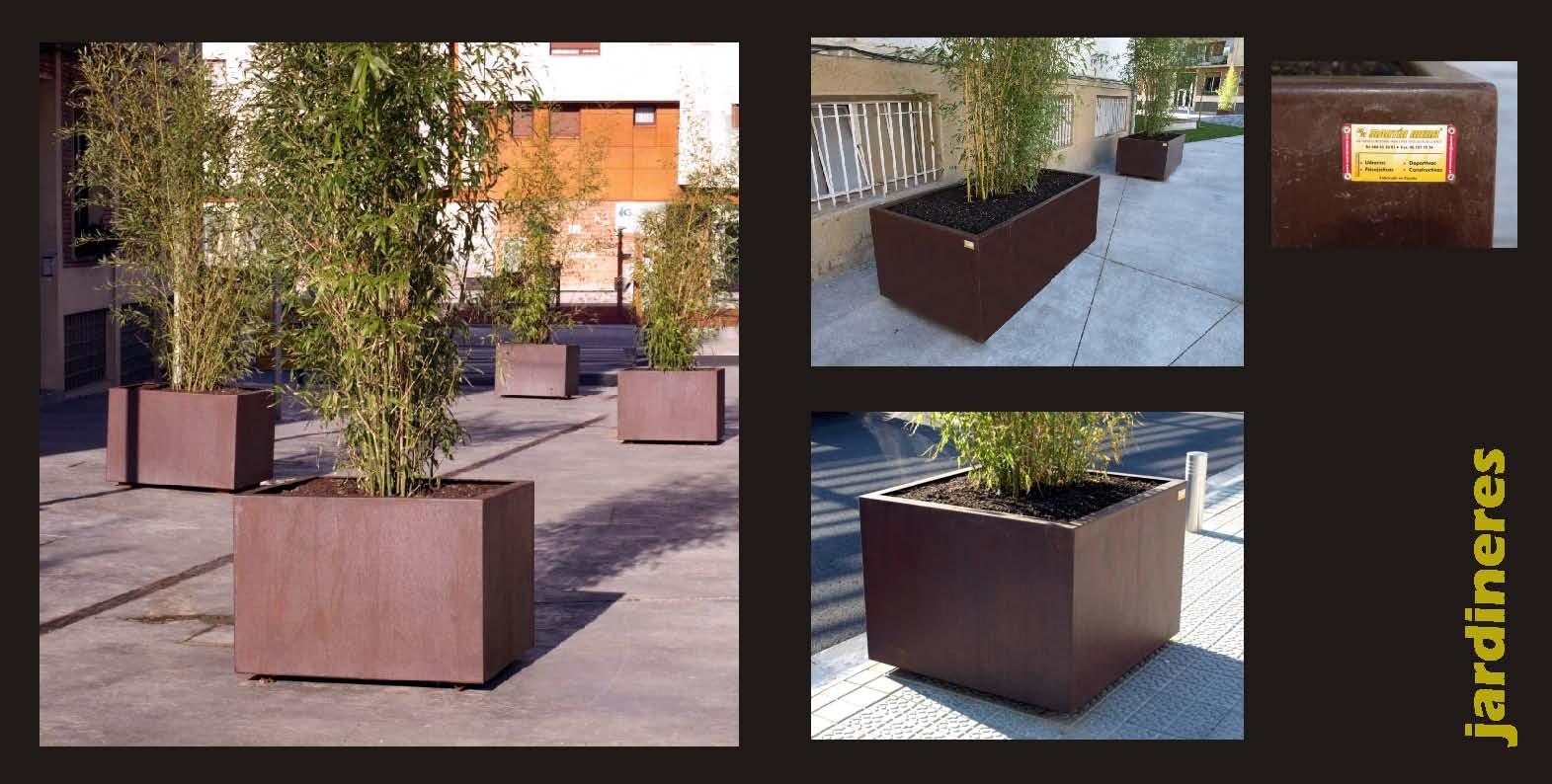 Martin mena mobiliario urbano adaptado valencia for Jardineras acero corten